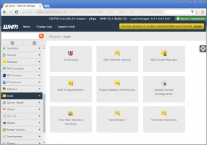 A screenshot of the CPanel UI